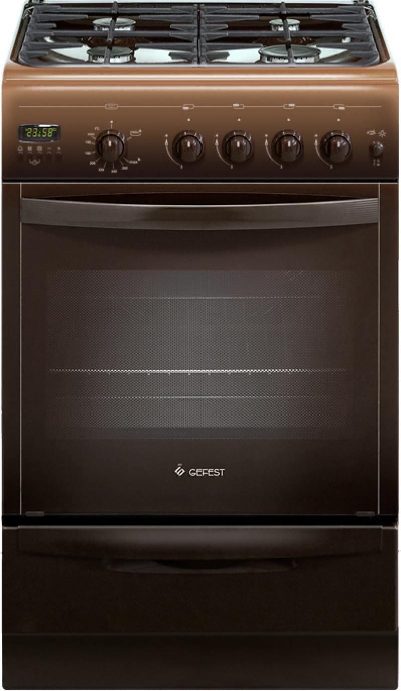 Газовая плита Gefest 5100-04 0001 газовая плита gefest пг 5100 03 0001 коричневый