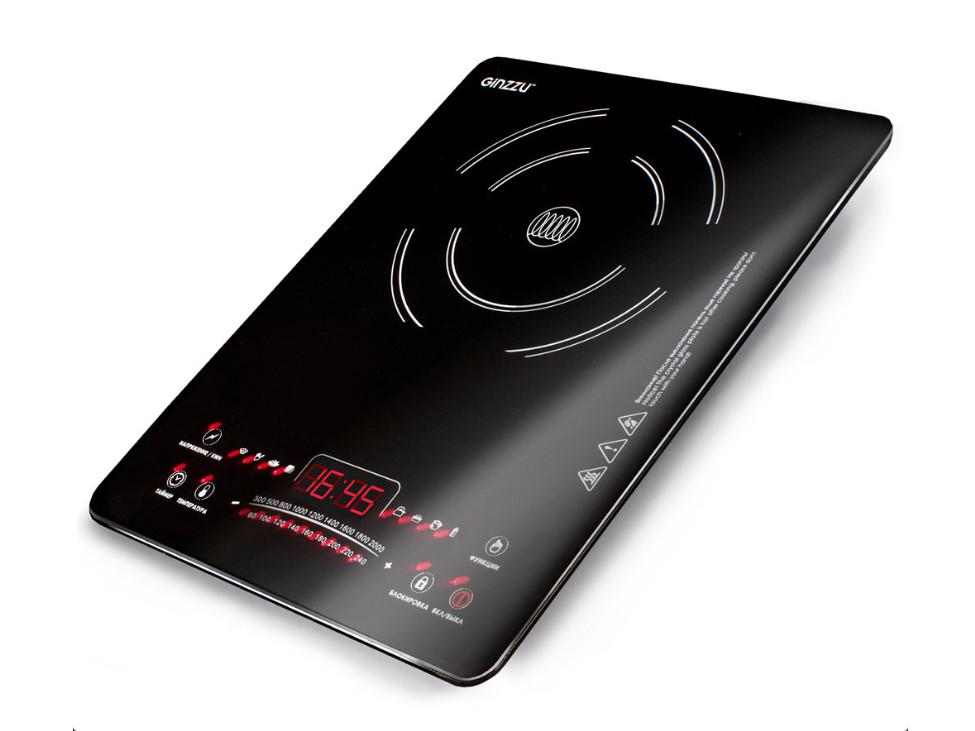 лучшая цена Плитка индукционная GINZZU HCI-161 черная, 2000Вт., сенсорное управление, 1 конфорка