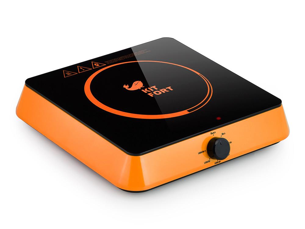 Индукционная плитка Kitfort КТ-113-3 Мощность: 1600 Вт.Длина шнура: 1,32 м. оранжевый плитка индукционная kitfort кт 113 4 цвет желтый