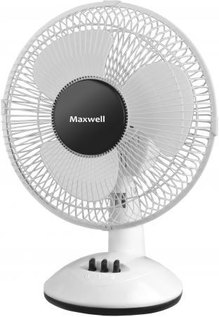 "Вентилятор настольный Maxwell MW-3547(W), мощ. – 30 Вт., диаметр - 9""/22 см., 2 скорости цена и фото"