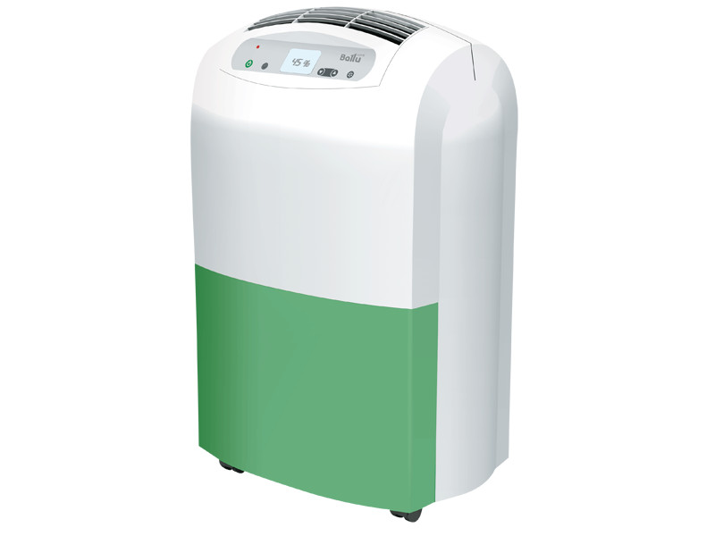 Осушитель воздуха Ballu BDH-30L бело-зеленый осушение 30 л/сутки, мощность 530 вт., S-30 м?., сенсорное управление,