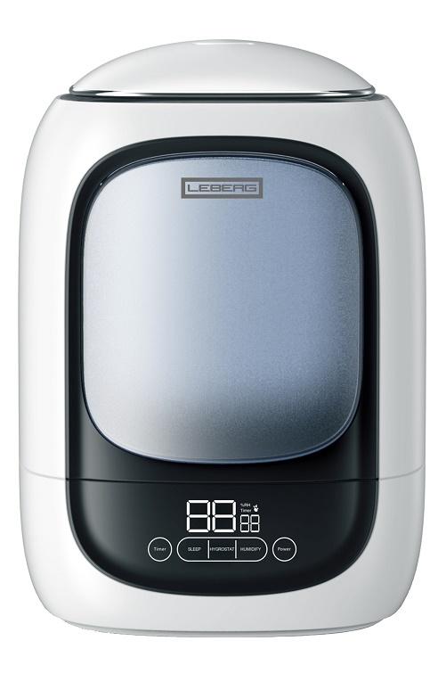 Увлажнитель воздуха Leberg LH-19A белый сенсорное управление, LCD дисплей, S-20/25 м?, объём 4.5 л., 320 мл/ч leberg lh 803 silver