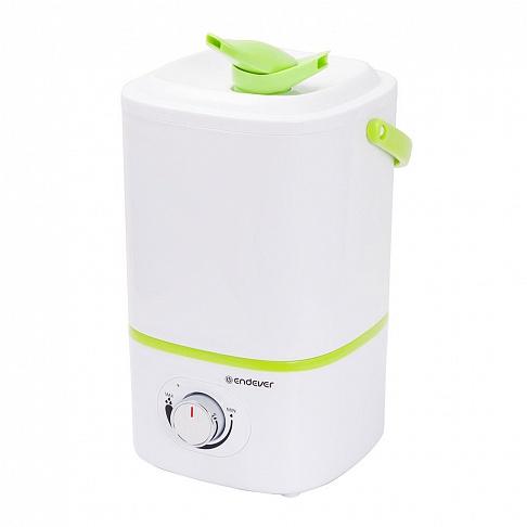 Ультразвуковой увлажнитель воздуха Endever Oasis-173 Мощность 20 Вт, производительность- 280 мл/час, объем резервуара 3 л ручка для переноски цена и фото