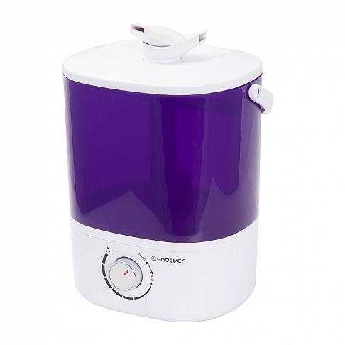 Ультразвуковой увлажнитель воздуха Endever Oasis-174 Мощность 20 Вт, производительность- 280 мл/час, объем резервуара 4 л ручка для переноски цена и фото