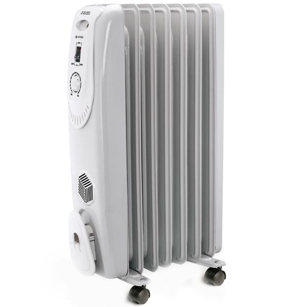 Масляный радиатор Vitek VT-1704 W 1500 Вт белый цена 2017