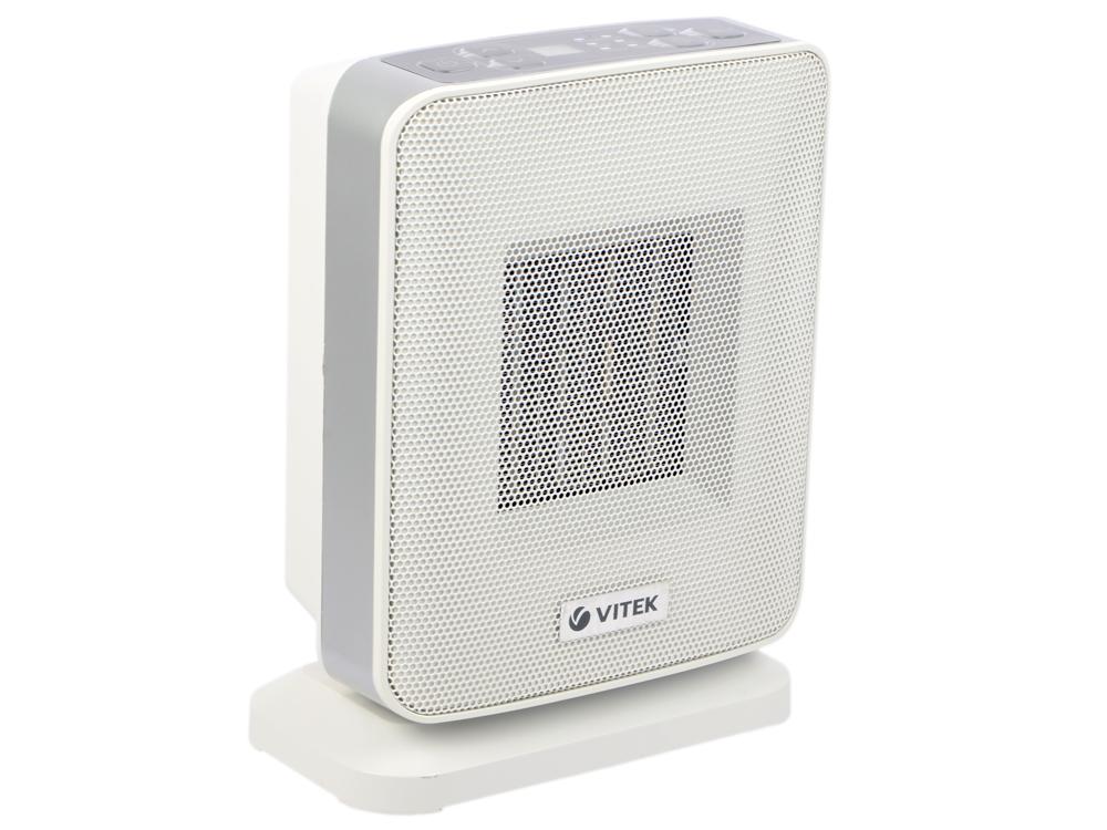 Тепловентилятор Vitek VT-2052(GY) 1500 Вт белый цена 2017