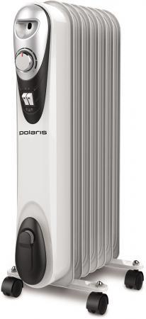 Масляный радиатор Polaris CR C 0715 1500 Вт белый чёрный