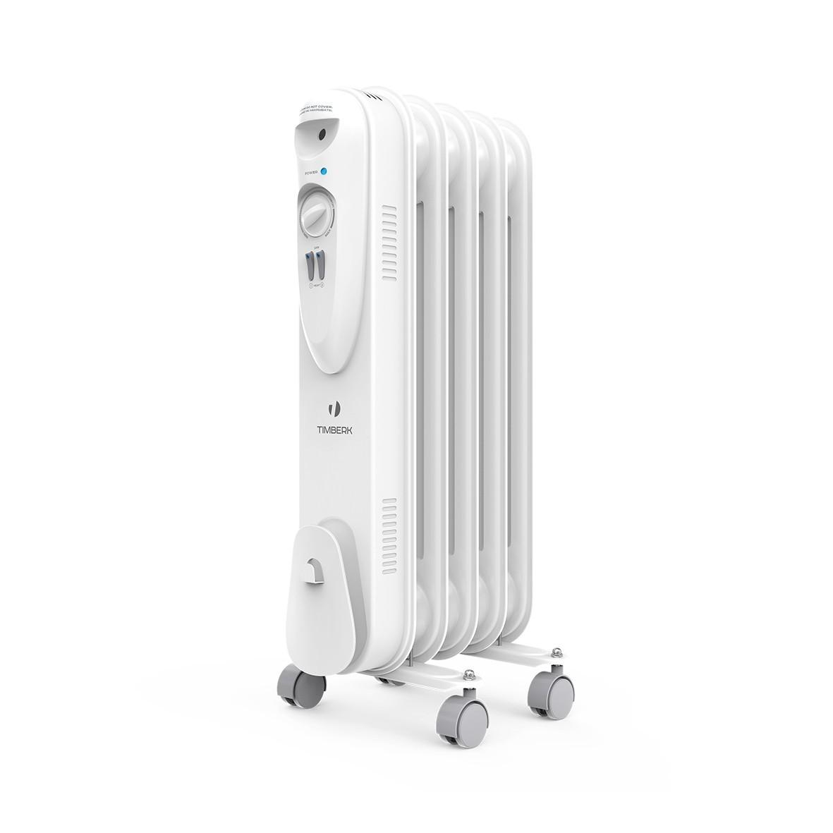 Масляный радиатор Timberk US TOR 21.1005 SLX, ULTRA SLIM дизайн, 5 секций, 1000 Вт., защита от протечек масла, высокоточный термостат