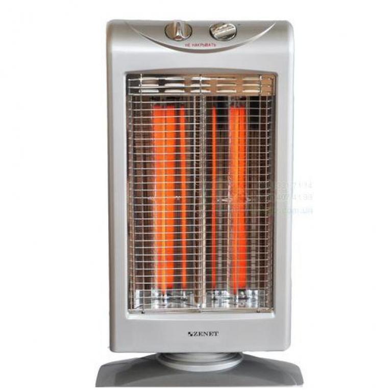 Инфракрасный обогреватель ZENET ZET-502 мощность 500/1000 Вт., S-40 м2, вращение 180°