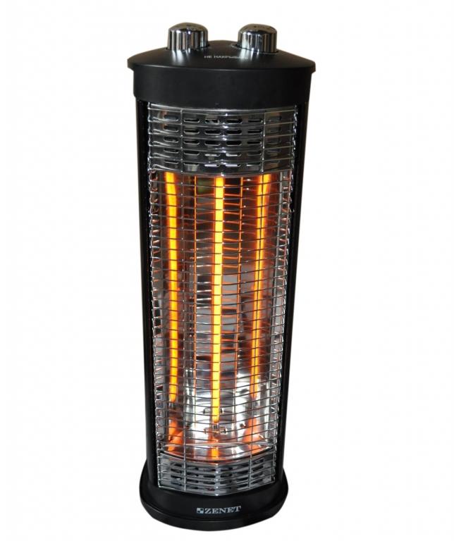 Инфракрасный обогреватель ZENET ZET-504 мощность 400/800 Вт., S-25 м2, таймер, верт./горизонт. расположение