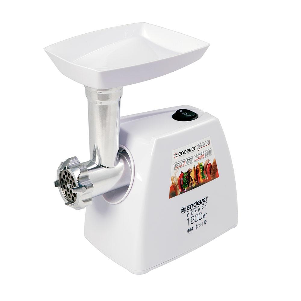 Мясорубка Endever Sigma-57 белый 1800 Вт, 2,2 кг/мин