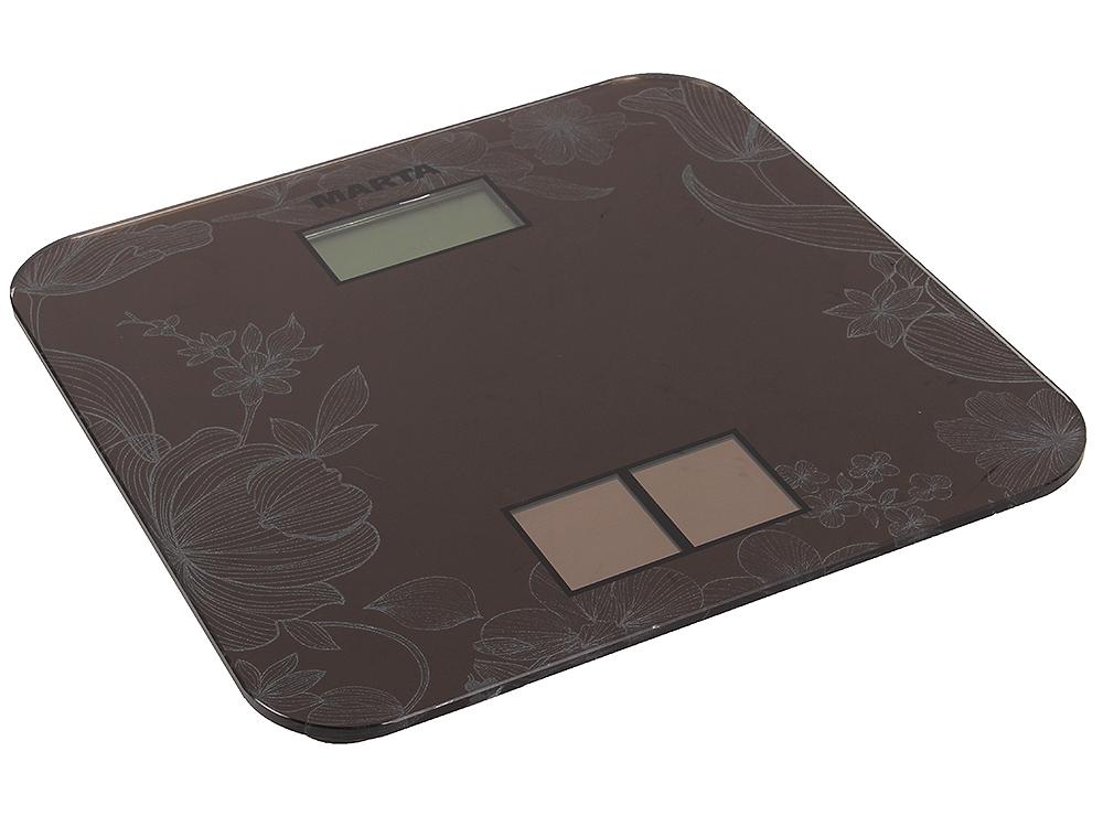 Электронные напольные весы MARTA MT-1663 титан цена