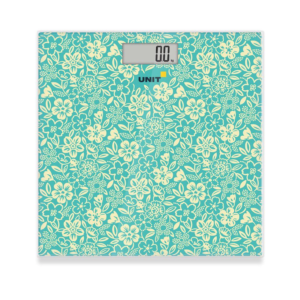 Весы напольные электронные UNIT UBS-2051 (Цвет - Зелёный); стекло, 150кг. 100гр. весы напольные home element he sc906 молодая трава зелёный