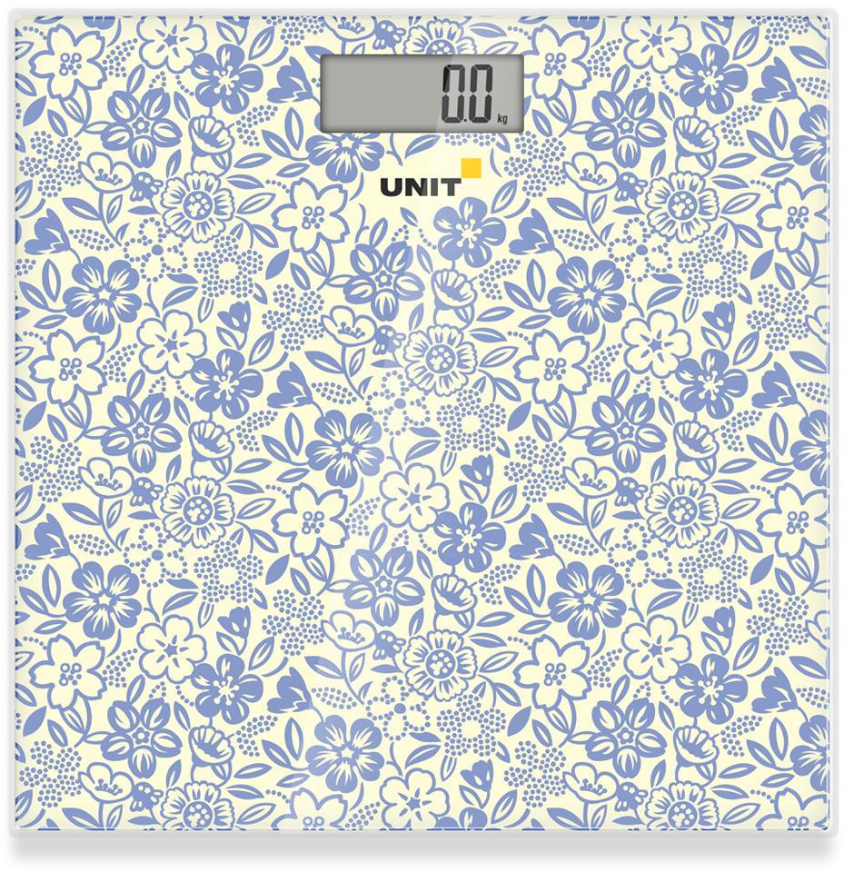 Весы напольные электронные UNIT UBS-2051 (Цвет - Сизый); стекло, 150кг. 100гр. недорго, оригинальная цена