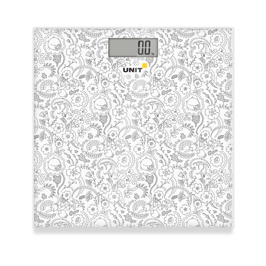 Весы напольные электронные UNIT UBS-2052 (Цвет: Светло-Серый); стекло, 150кг. 100гр. недорго, оригинальная цена