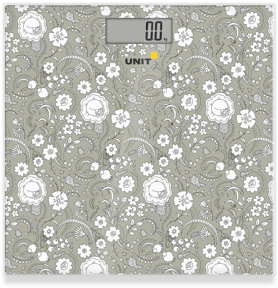 Весы напольные электронные UNIT UBS-2052 (Цвет: Темно-Серый); стекло, 150кг. 100гр. цена и фото