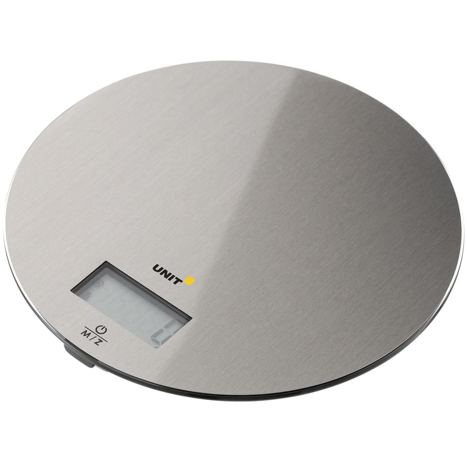 Весы Кухонные электронные UNIT UBS-2150; стекло, сталь, 5кг. 1гр.