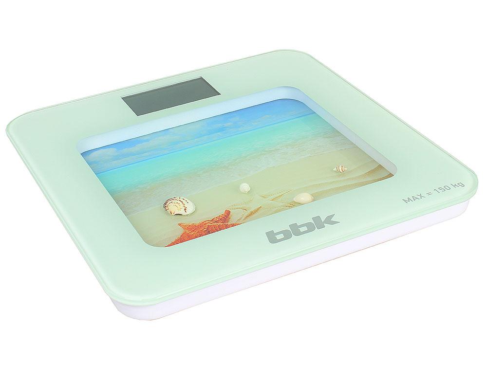 Электронные напольные весы BBK BCS7001 белый/голубой
