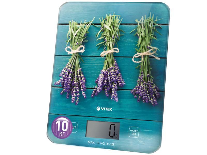 Весы кухонные Vitek VT-2415 B электронные синий с рисунком весы кухонные vitek vt 8022 bk разноцветный