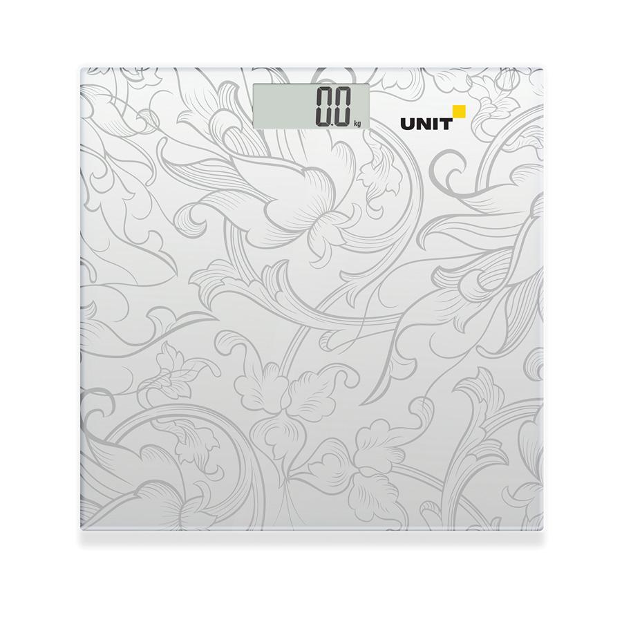 купить Весы напольные электронные UNIT UBS-2053 (Цвет: Светло-Серый); стекло, 180кг. 100гр. по цене 750 рублей