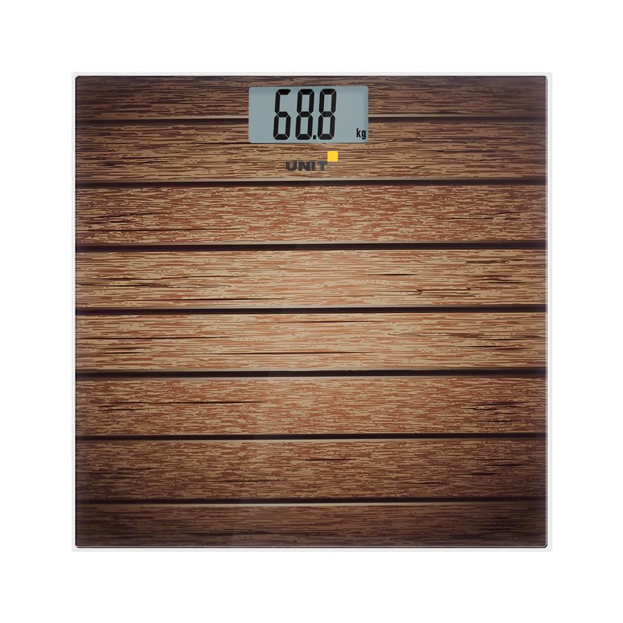 Весы напольные электронные UNIT UBS-2056 (Рисунок B); стекло, полноцветная печать, 180кг. 100гр.
