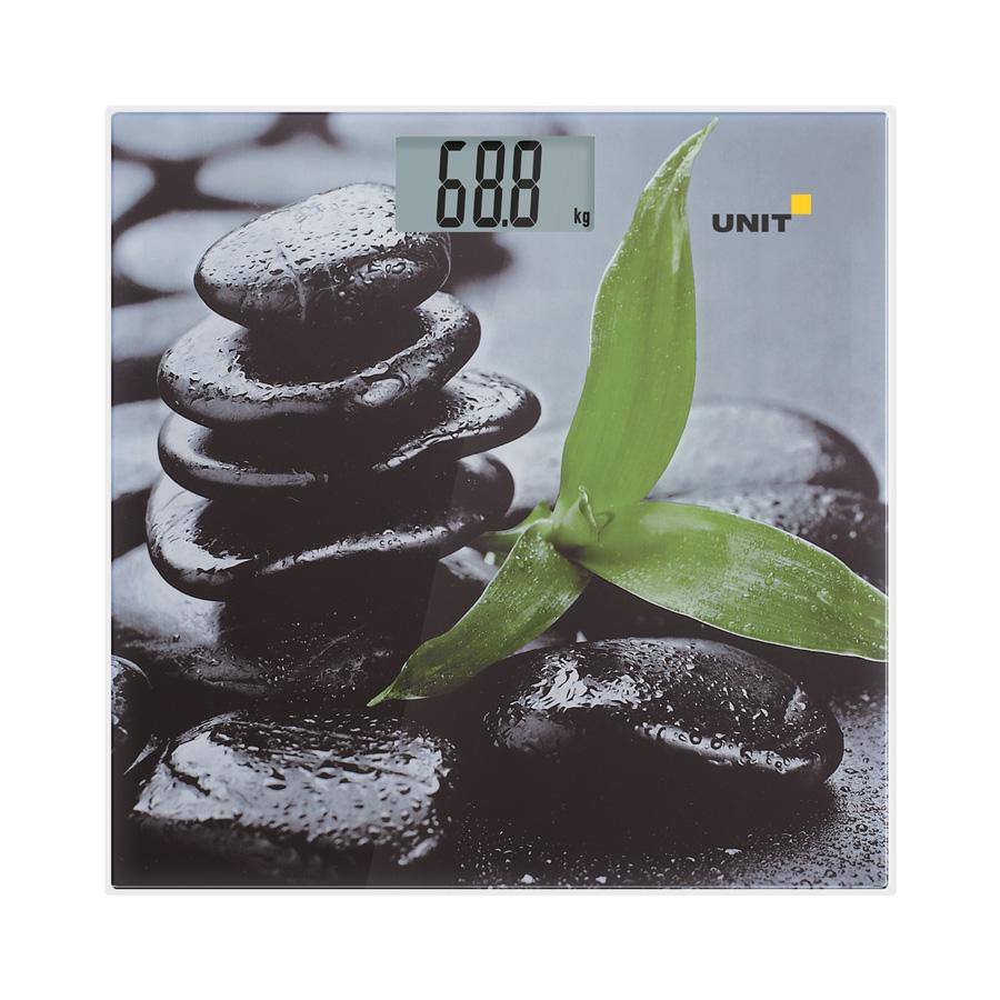 Весы напольные электронные UNIT UBS-2056 (Рисунок C); стекло, полноцветная печать, 180кг. 100гр.