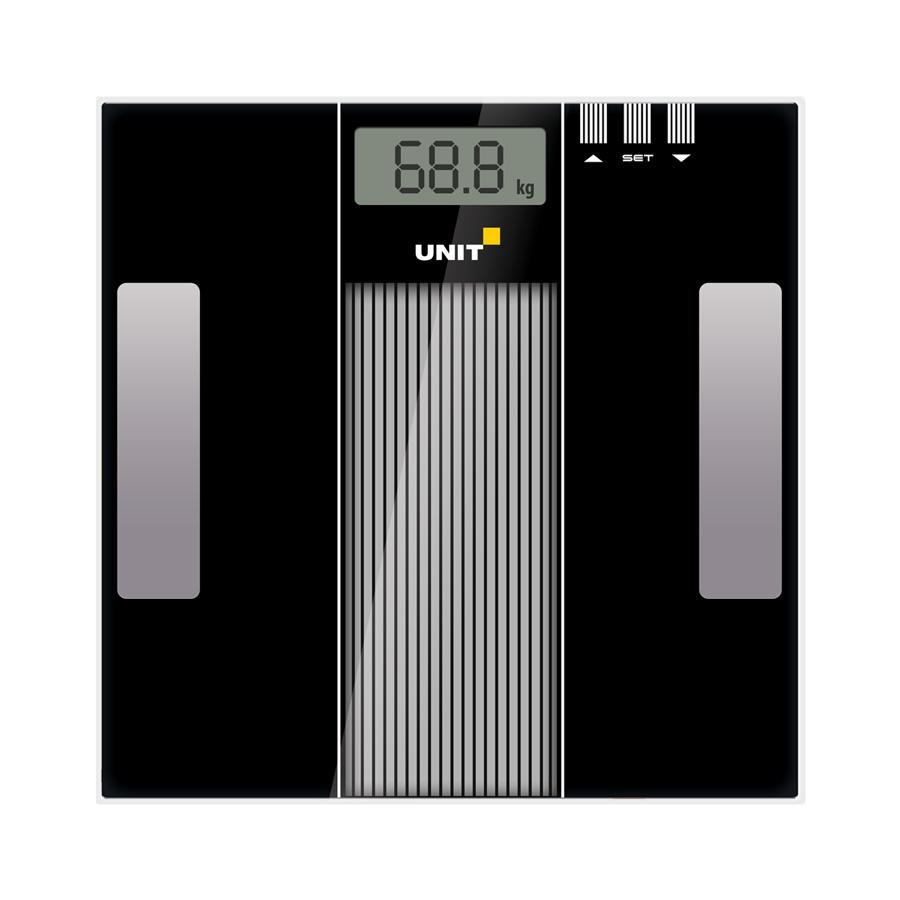 Весы напольные электронные UNIT UBS-2210 (Цвет: Чёрный); стекло, Диагностические, 150кг. 100гр. цена и фото