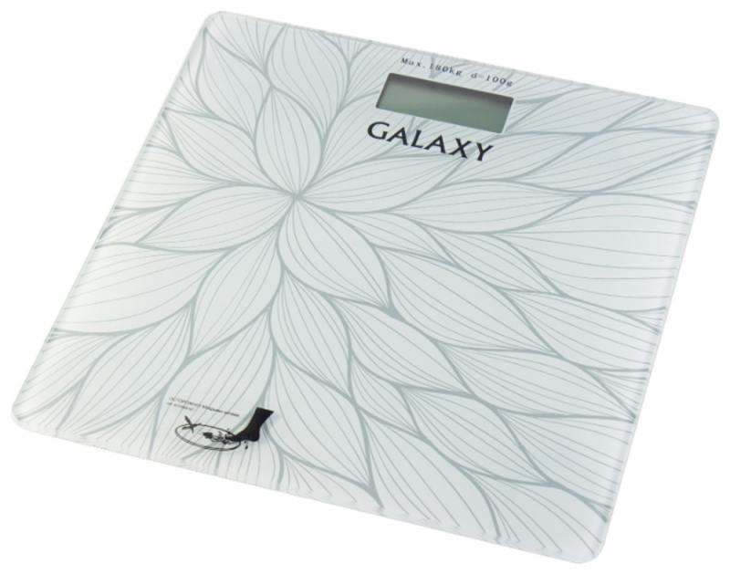 Весы напольные Galaxy GL4807 белый рисунок
