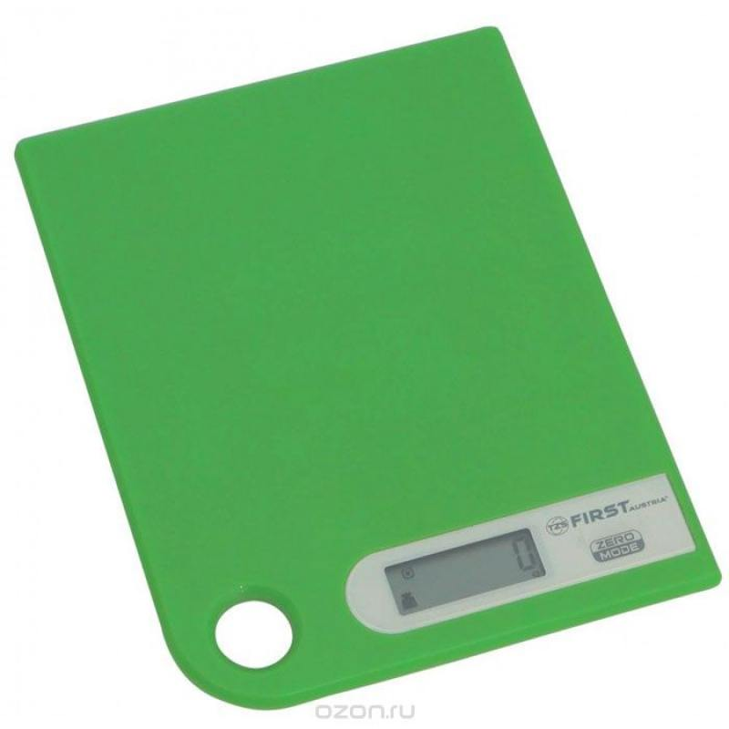 Весы кухонные First 6401-1 зелёный цена и фото