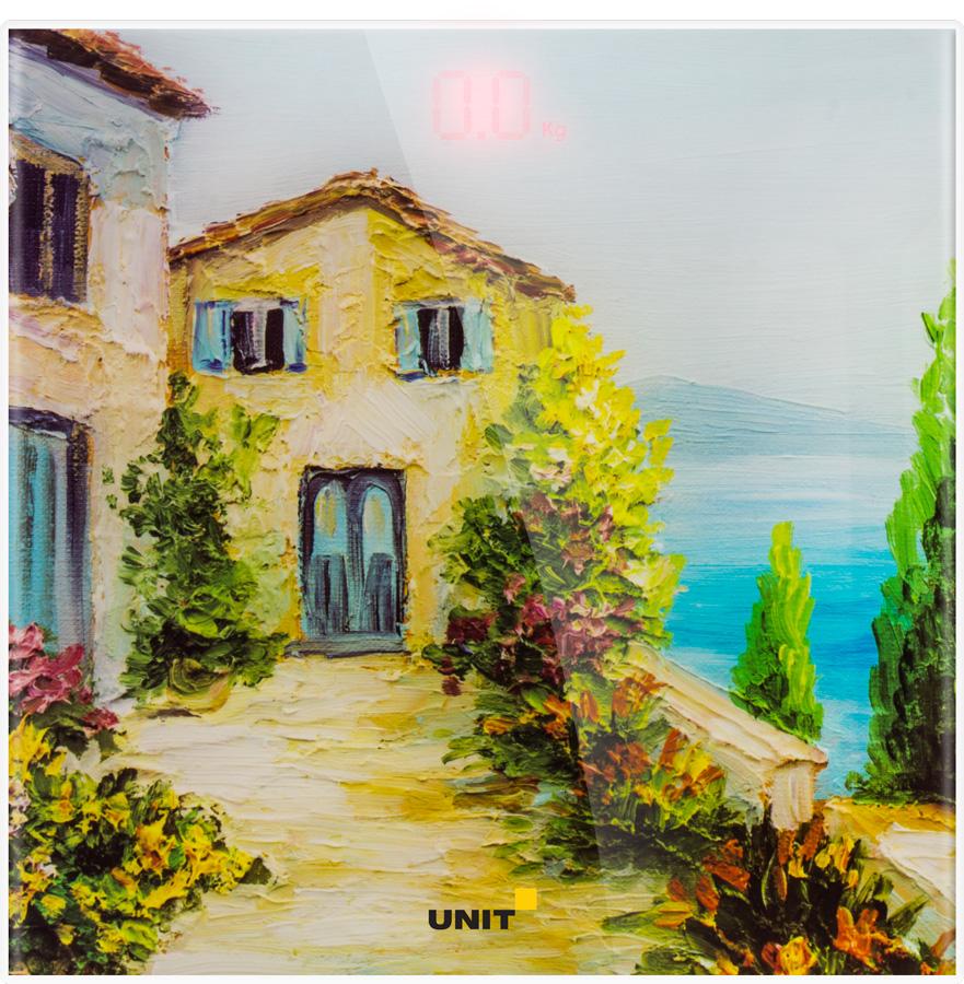 Весы напольные электронные UNIT UBS-2057, стекло, 150кг. 100гр., скрытый LED дисплей недорго, оригинальная цена