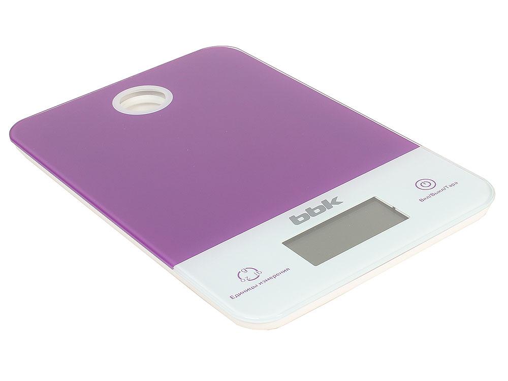 Электронные кухонные весы BBK KS109G фиолетовый