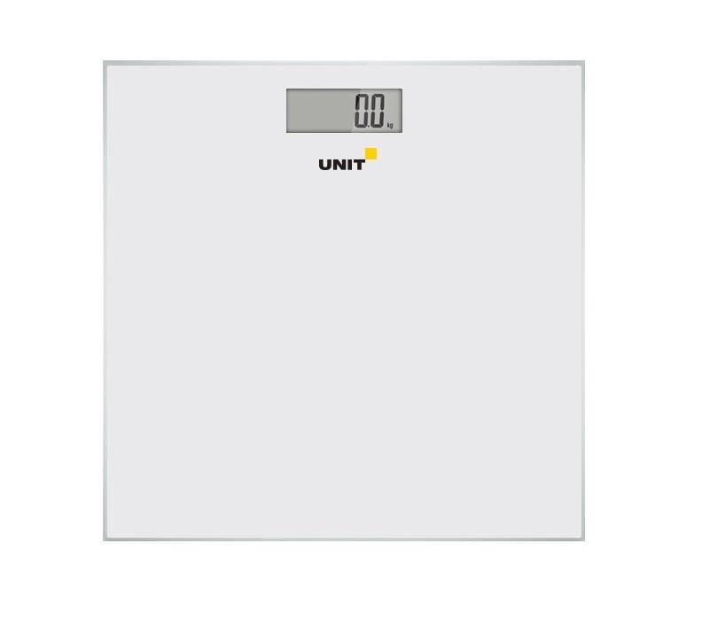 Весы напольные электронные UNIT UBS-2052 (Цвет: Белый); стекло, без рисунка, 150кг. 100гр. цена и фото