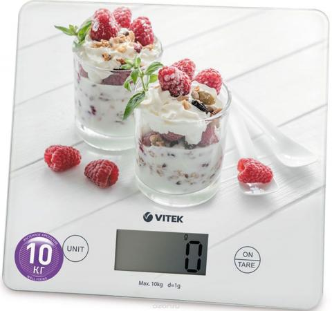 Весы кухонные Vitek VT-8034(W) Максимальный вес 10 кг Функция тарирования. весы кухонные vitek vt 8021 st серебристый