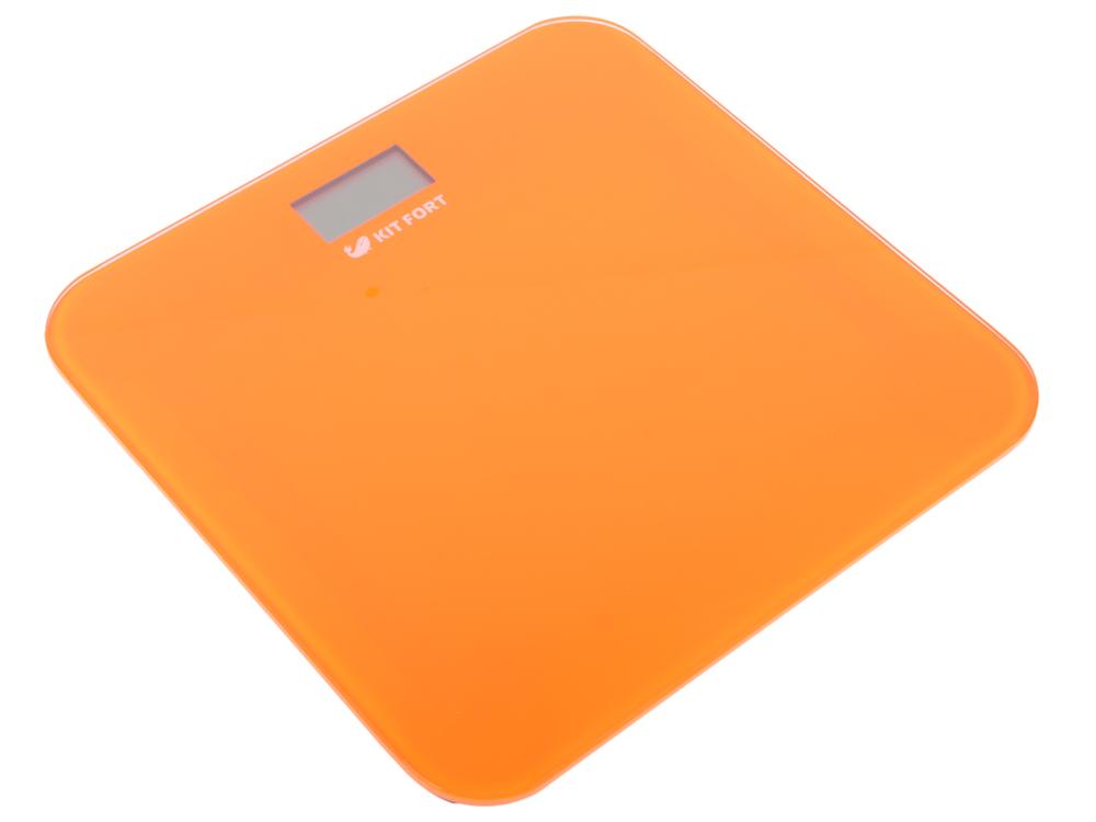 все цены на Весы напольные Kitfort КТ-804-5 оранжевые онлайн