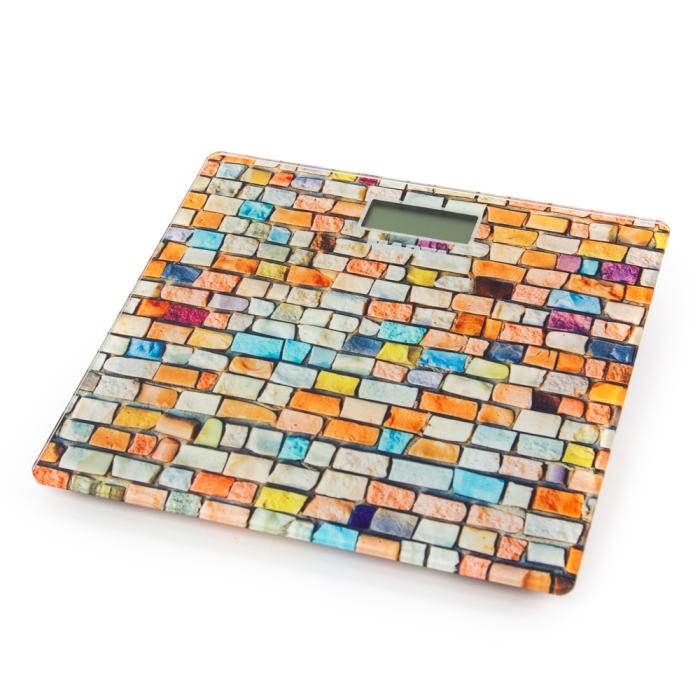 цена на Весы напольные MARTA MT-1677 радужная мозаика