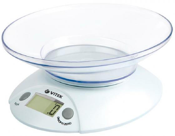 Весы кухонные Vitek VT-8001 белый 5 кг, пластик