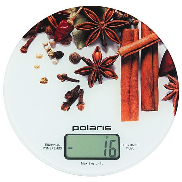 Весы кухонные электронные Polaris PKS 0834DG макс.вес:8кг белый/специи все цены