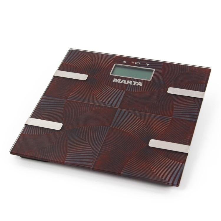 цена на Весы напольные Marta MT-1675 коричневый оникс