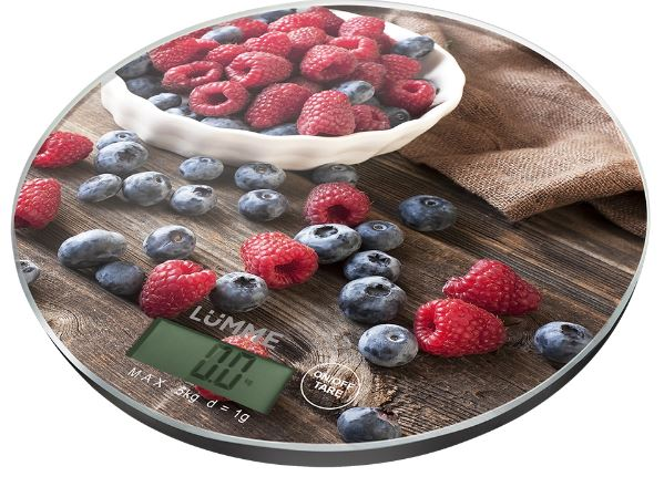 Кухонные весы LUMME LU-1341 ягодный микс цена и фото