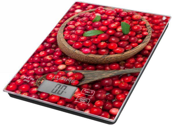 Кухонные весы LUMME LU-1342 брусничая россыпь цена и фото