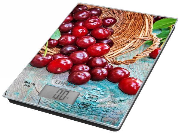 Кухонные весы LUMME LU-1342 садовая вишня цена и фото