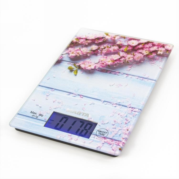 Кухонные весы MARTA MT-1633 весенние цветы весы кухонные marta цитрусовый фреш рисунок mt 1635
