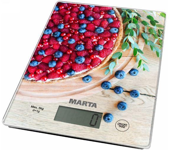Кухонные весы MARTA MT-1634 ягодный пирог marta mt 1459 new black burgundy