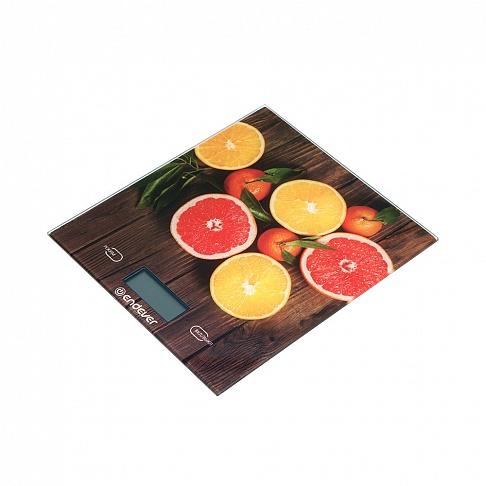 Весы кухонные электронные Endever Chief-501, рисунок Фрукты вес от 2 г до 5 кг, закаленное стекло, автовыключение цена и фото