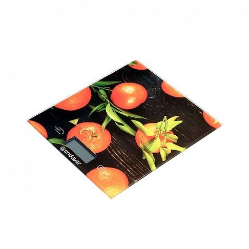 цена на Весы кухонные электронные Endever Chief-504, рисунок Апельсины вес от 2 г до 5 кг, закаленное стекло, автовыключение