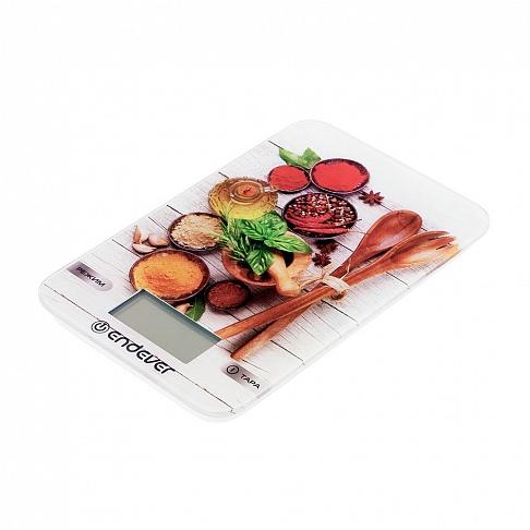 столовые приборы Весы кухонные электронные Endever Chief-509, рисунок Столовые Приборы вес от 2 г до 5 кг, закаленное стекло, автовыключение