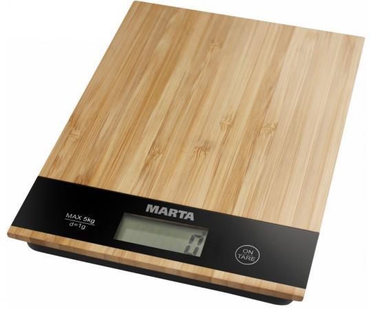 Весы кухонные Marta MT-1639 бамбук