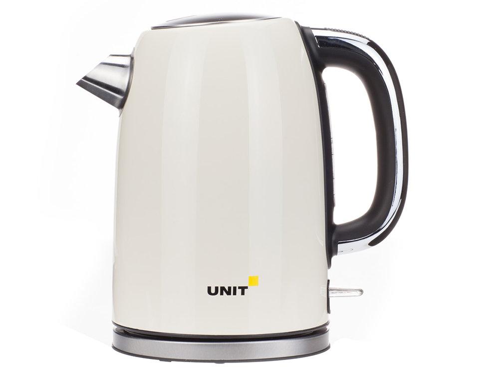 цены Чайник электрический UNIT UEK-264, цвет - Бежевый; сталь, цветная эмаль, 1.7л., 2000Вт.