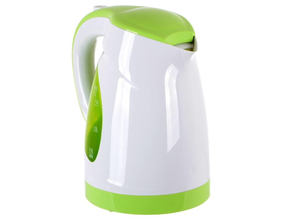 Чайник BBK EK1700P белый/зеленый чайник электрический bbk ek 1700 p белый зеленый