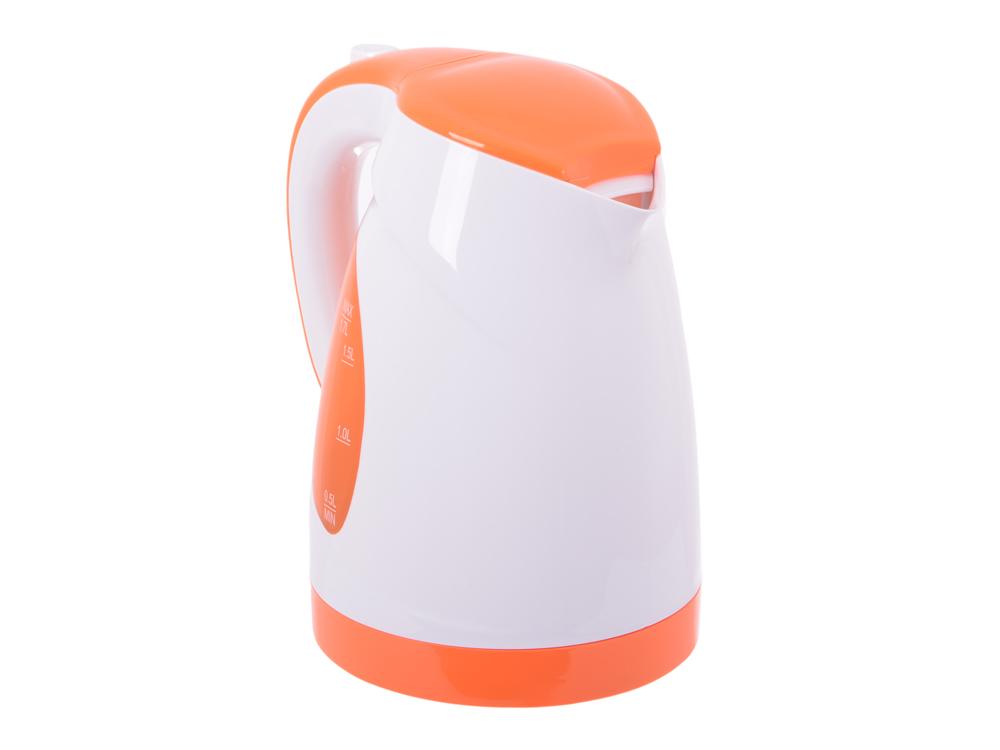Чайник BBK EK1700P белый/оранжевый
